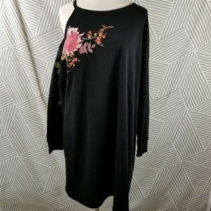 MAURICES Sweatshirt Dress Cold Shoulder Cutout 1X
